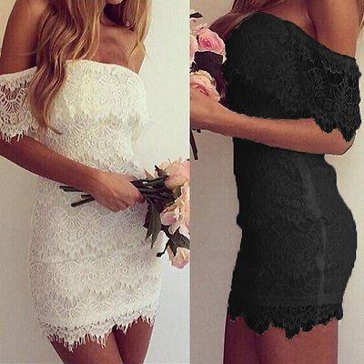 Robe blanche dentelle ebay