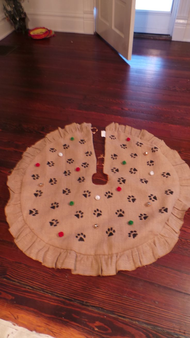 Paw Print Christmas Tree Skirt To At Therescuemama