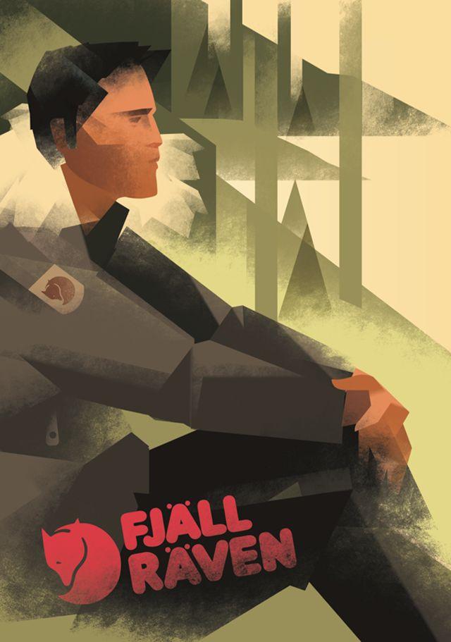 Ça me fait penser aux vieux posters du Canadian Pacific... Reminds me Canadian Pacific poster...