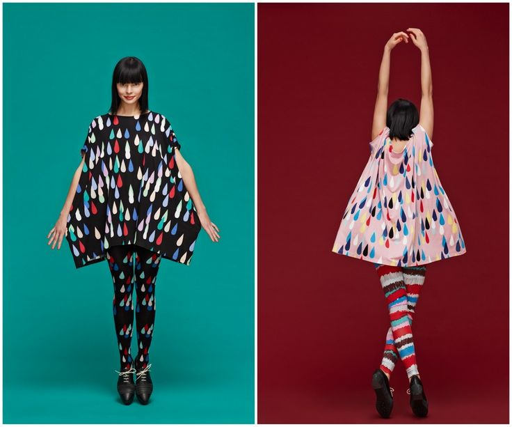 Finnish fashion brand Marimekko AW13 collection: Drops dress & Rips tights. Click to see more: www.fashionflashfinland.com !