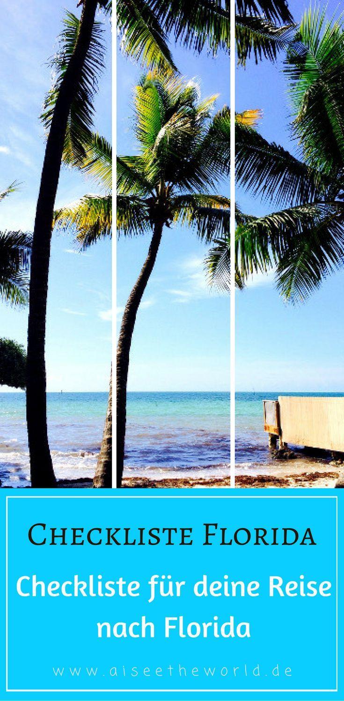 Reisetipps für deinen Urlaub im Sunshine State in Florida. Von der Buchung deines Eine Checkliste für deine Reise in die USA. Tipps zu Hotels, Unterkünfte, ESTA, Einreise, Währung, Geld tauschen, Kreditkarte, Adapter, Routenplanung, Reiseapotheke, Versicherungen, Auto, Mietwagen, Führerschein - hier bekommst du Hilfe für deinen nächsten Roadtrip.