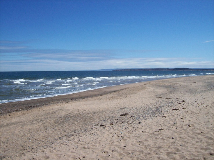 melmurby beach in summer, nova scotia