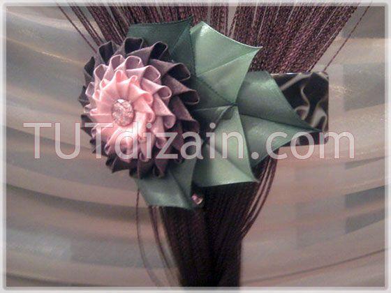 Бант-цветок в технике канзаши » Планета рукоделия