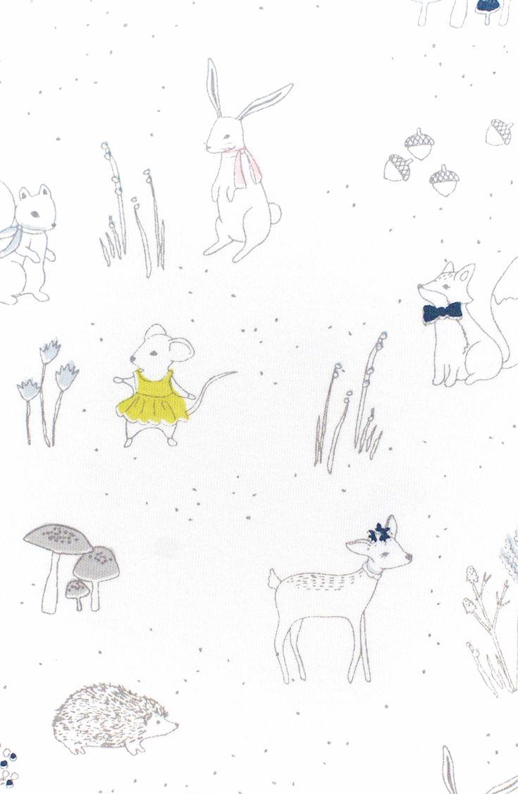 Main Image - Petit Pehr Magical Forest Bodysuit, Pants & Hat Set (Baby Girls)