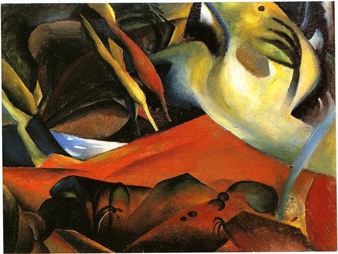 アウグスト・マッケ『嵐』(1911) August Macke - Der Strum  #表現主義 #ブリュッケ
