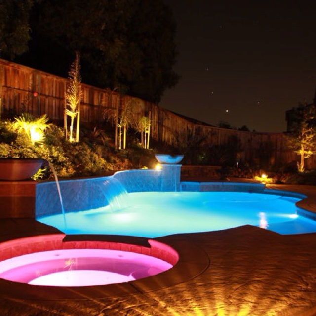 17 best images about swimming pool lighting on pinterest for Pool design kelowna