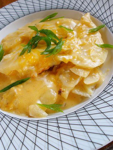 slow cooked potato gratin, yummo!
