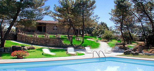 Villa Campoleone - Lucignano - Toscana - Toskanaferien - Urlaub in der Toskana - Ferien in der Toscana, Landhaus mit Pool in der Toscaba