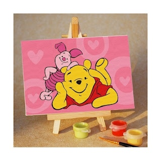 Melukis Sendiri Pooh and Piglet Are Best Friends - Melukis Sendiri
