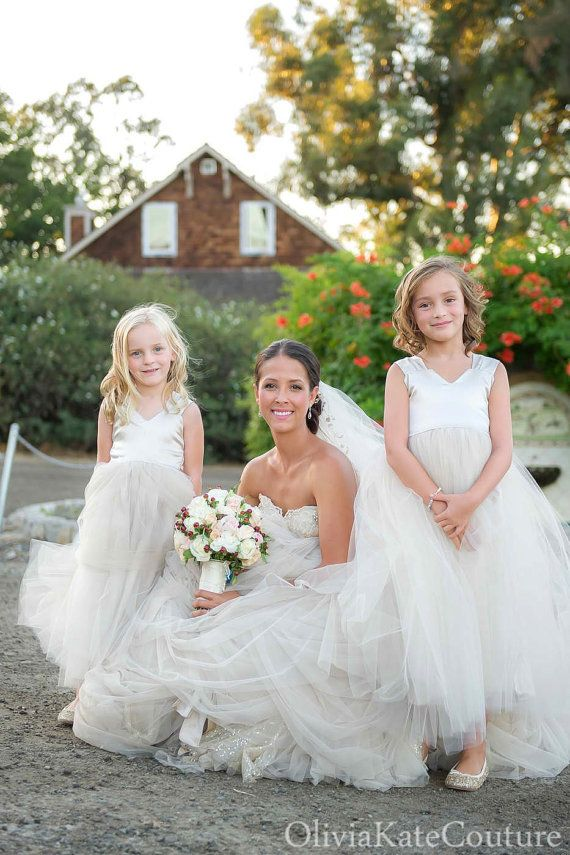 Champagne Flower Girl Dress by OliviaKateCouture on Etsy $130
