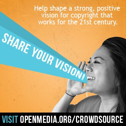 "Have you ever thought to yourself, ""hey, I wish I could help shape our Digital Future""? Well today's your lucky day! Go to https://OpenMedia.org/Crowdsource and use our drag and drop tool to share your vision for how we should share and collaborate in the 21st century."