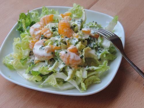 Chinese Kool met yoghurt-mandarijn dressing - EcoBioLiving