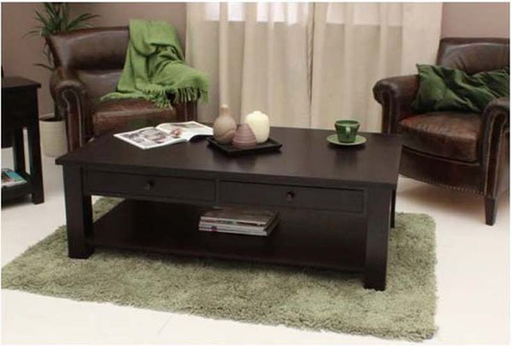 Dark Wood Coffee Table With Drawers Woodworking Projects Plans