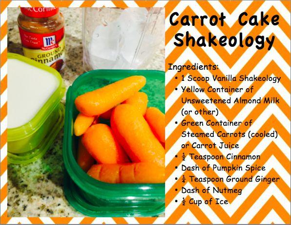 Carrot Cake Shakeology #shakeology #carrotcakesmoothie
