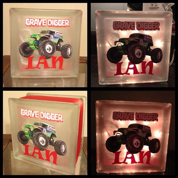 Monster Truck Night Light Grave Digger by JLHCreativeDesigns, $23.00