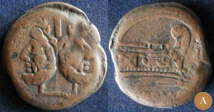 Римская республика, анонимный выпуск, 157-156 год до Р.Х., асс. | ANDREY PYATYGIN ANCIENT COINS | Магазины | Антикварус