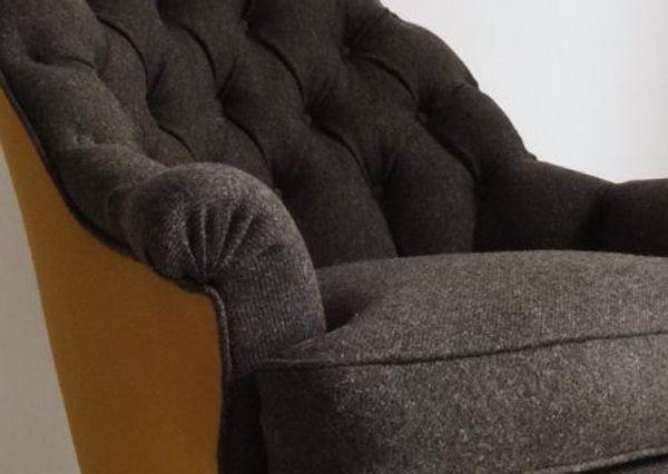 fauteuil crapaud capitonné / www.enmatieredesiege.fr