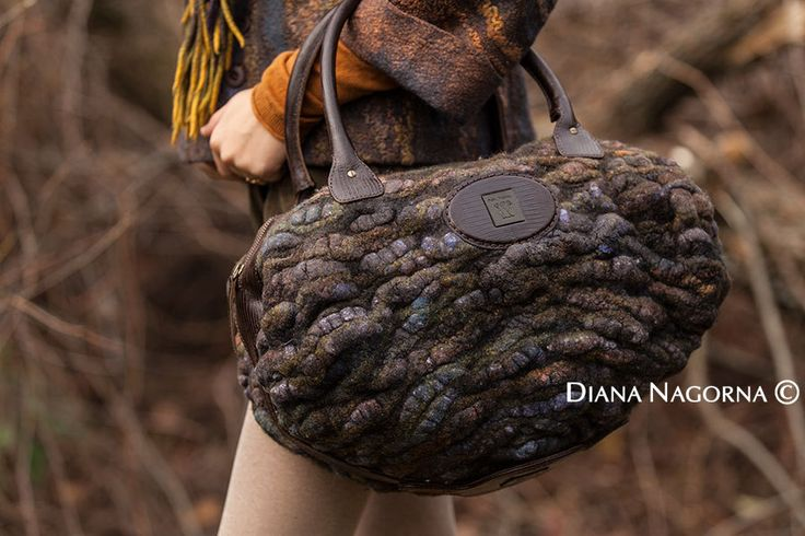 Felted bag by DianaNagorna on Etsy