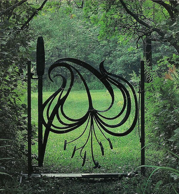 Gate, Verona, province of Verona , Veneto Italy, garden art, fencing, gate, lily gate
