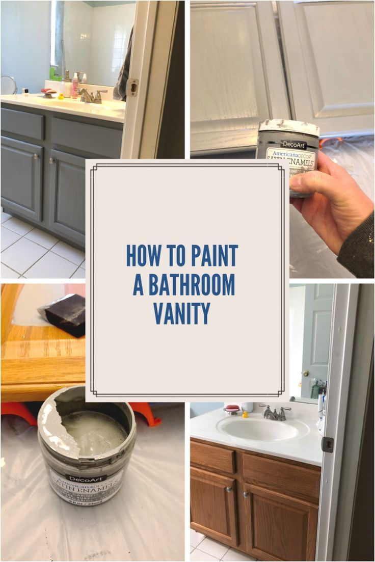 Painted Bathroom Vanity One Room Challenge Week 3 Bathroom Vanity Makeover Bathroom Styling Modern Master Bathroom