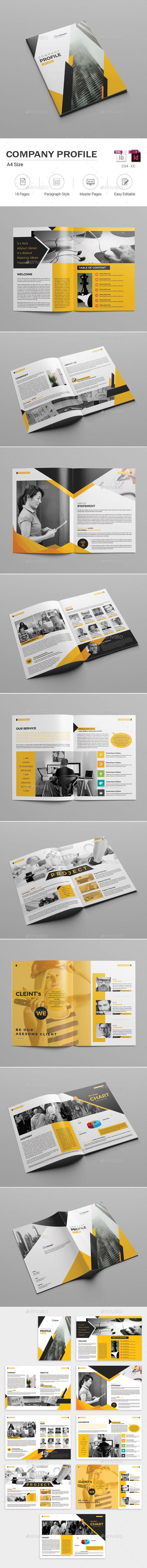 Company #Profile - Corporate #Brochures Download here: https://graphicriver.net/item/company-profile/19560552?ref=alena994