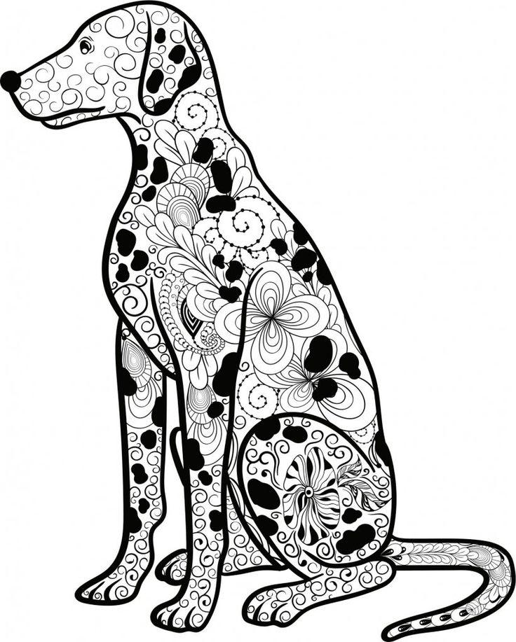 Mandala Hund Dalmatiner | Ausmalen, Ausmalbilder