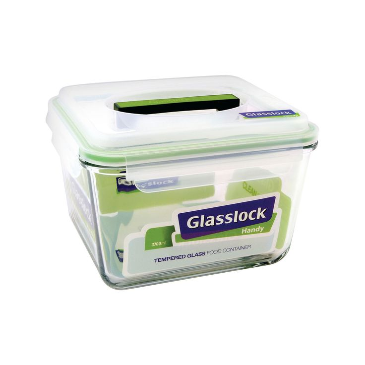 Glasslock 15 Cup Rectangular Glass Travel Container, Clear