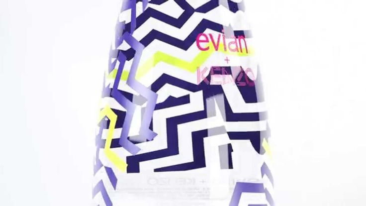Discover evian new limited edition bottle.  This year evian® and French fashion house KENZO, partner to create a pure bottle, driven by a playful yet distinctly mysterious spirit. Born in the purity of the Alps, dressed with a twisted spirit, the bottle embodies a naturally playful energy : a theme that united the two brands.  Join the conversation #evianxKENZO