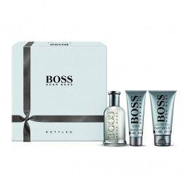 Hugo Boss Bottled Gift Set 2013 with 100ml Eau de Toilette, 75ml After Shave Balm, 50ml Shower Gel; available at http://fragrance-house.co.uk/men/1059147-hugo-boss-boss-bottled-gift-set-100ml-edt-50ml-shower-gel-75ml-aftershave-balm-737052719238.html#