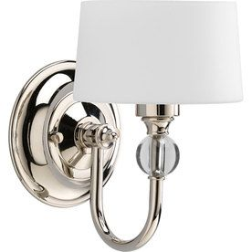 Progress Lighting�Fortune 5.875-in W 1-Light Polished Nickel Arm Hardwired Wall Sconce