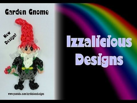 Rainbow Loom GARDEN GNOME updated! Designed and loomed by Kate Schultz of Izzalicious Designs. Click photo for YouTube tutorial. 06/24/14.