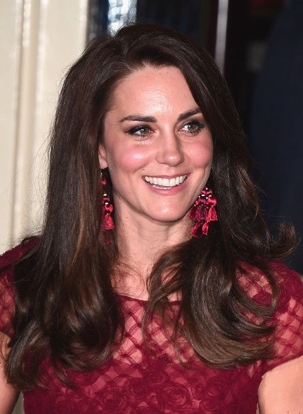 "Kate Middleton Photos Photos - Catherine, Duchess of Cambridge is seen leaving the opening night of ""42nd Street"" at Theatre Royal on April 4, 2017 in London, England. The opening night is a fundraising event for the East Anglia Children's Hospice (EACH) of which the Duchess of Cambridge is Patron. - The Duchess Of Cambridge Attends The Opening Night Of ""42nd Street"" In Aid Of The East Anglia Children's Hospice"