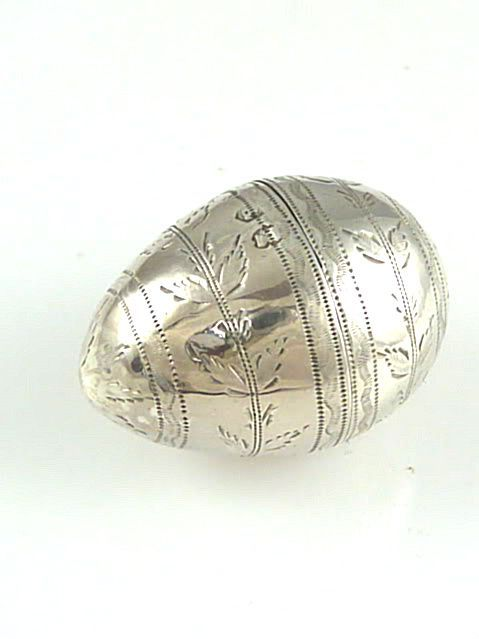 Antique Sterling Silver Nutmeg Grater Egg Shaped George III