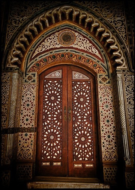 Coptic Orthodox Sacred Geometry, Entrance of Hanging Church, Cairo Egypt.