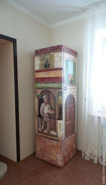 Графины, кувшины ручной работы. Заказать Роспись холодильника -  mural fridge