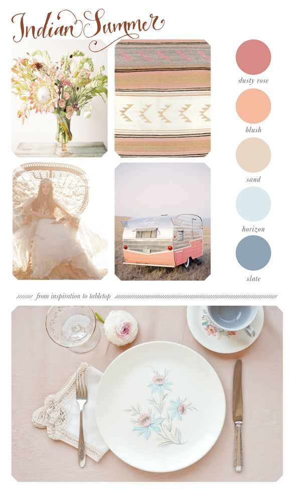 When planning your perfect event or wedding day, try putting together a colour palette when getting started to inspire you!