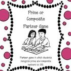This partner game is a fun way to introduce or reinforce prime and composite numbers. This game also reinforces the 4th grade Common Core standard- MCC4.OA.4- Find all factor pairs for a whole number in the range 1-100. Recognize that a whole number is a multiple of each of its factors. Determine whether a given whole number in the range 1-100 is a multiple of a given one-digit number. Determine whether a given whole number in the range 1-100 is prime or composite.