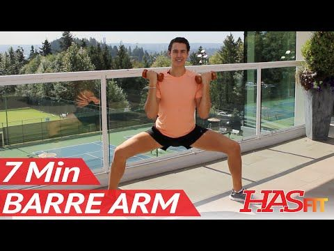 7 Min Toning Barre Arm Workout at Home w/ Beauty and The Fit - Pure Barre Method Workout for Arms - YouTube