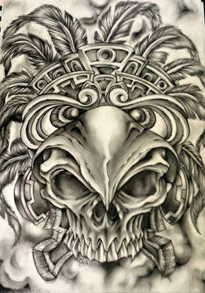 7dba6297c1c8f Pin by Jorge Rivera on Tattoo | Mexican art tattoos, Aztec art, Aztec tattoo  designs