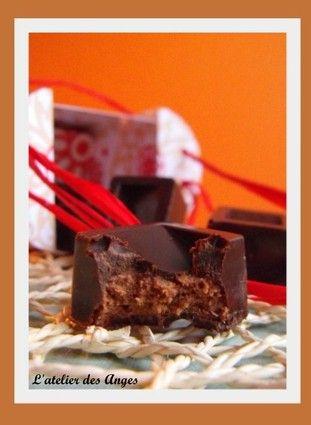 Chocolats au praliné croustillant