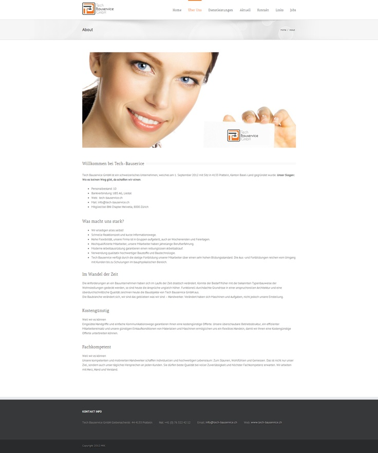 Tech Bauservice is a Swiss company.