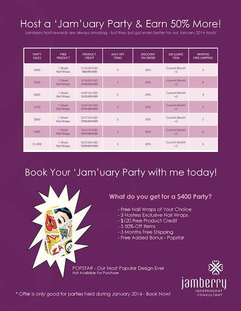 Jamberry Hostess Special for January!  Visit www.khberrylicious.weebly.com