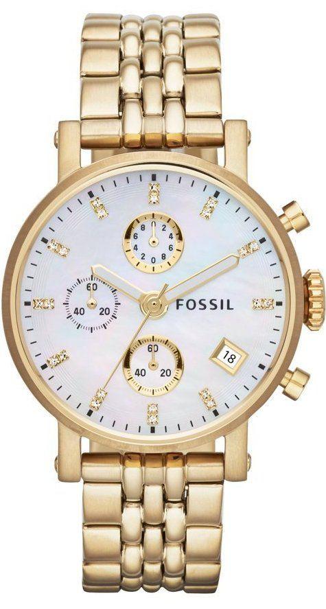 Fossil Watches, Women's The Original Boyfriend Chronograph Watch #ES3383