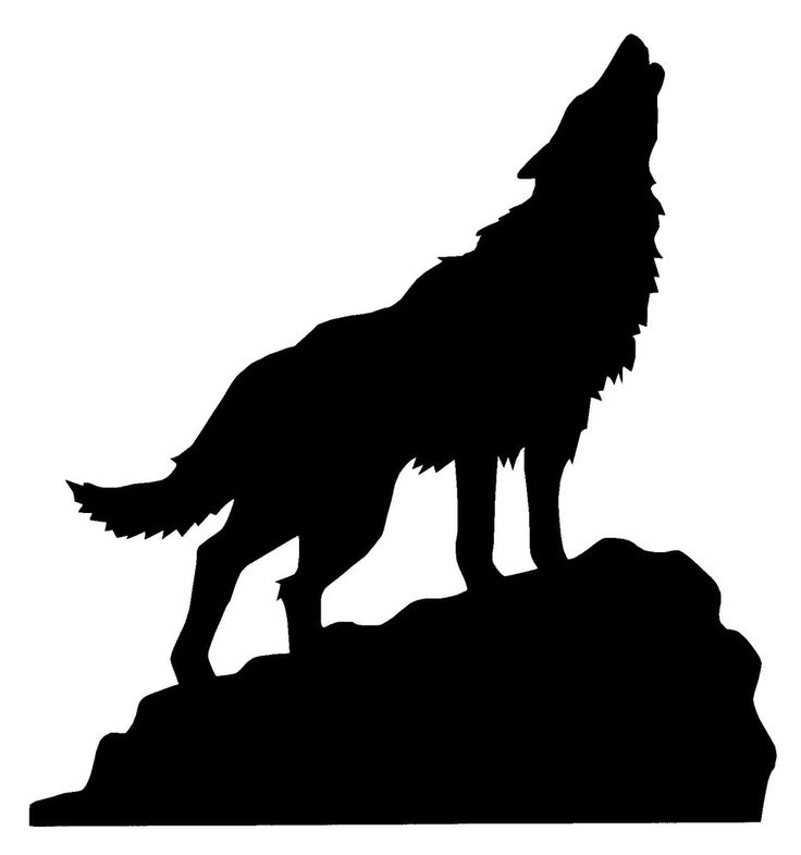 wolf silhouette howling on a hill clipart source http