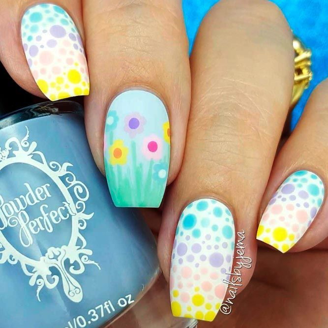 Spring Colorful Gradient Nail Art #ombrenails #springnails ★ Easter is high time to gather together with the whole fami…