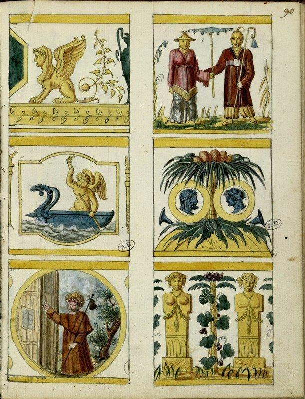 [24 décors pour tasse litron] | Centre de documentation des musées - Les Arts Décoratifs