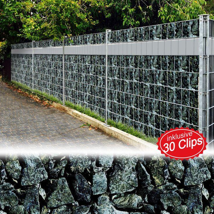 PVC Sichtschutz Sichtschutzfolie Windschutz Doppelstabmatten Zaun Blickdicht ° | eBay