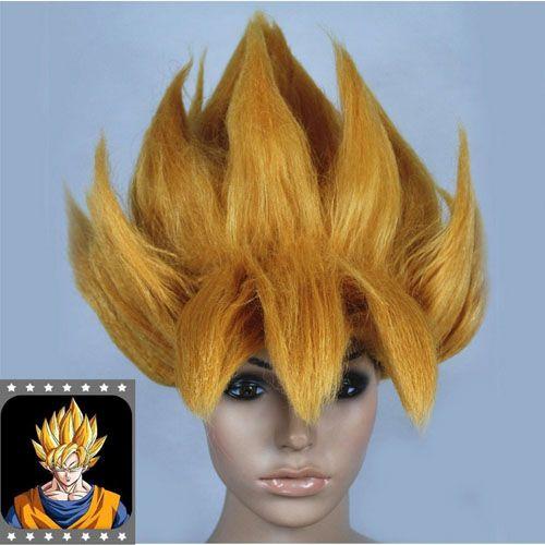 Hot Anime dragon ball dragon ball Z Cosplay peluca Goku Saiyan peluca de pelo dorado del partido de Halloween Cosplay Prop