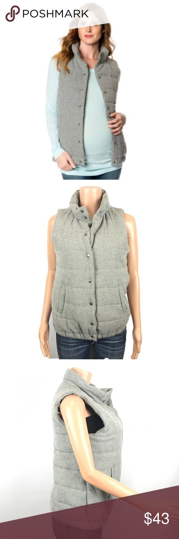 A pea in the pod wool blend puffer vest Nice wool blend puffer vest I. Great condition size medium has a elastic band on the hem.   FYI 📌📌📌📌📌 Things to keep in mind when shopping my closet  ✔️  all item come from a smoke free pet free clean home ✔️ all items shipped same day or next day unless its Friday orders will go out Monday  ✔️ open to offers I do not use the private offer system  ✔️ discounts on bundles  ✔️posh ambassador A Pea in the Pod Jackets & Coats Vests