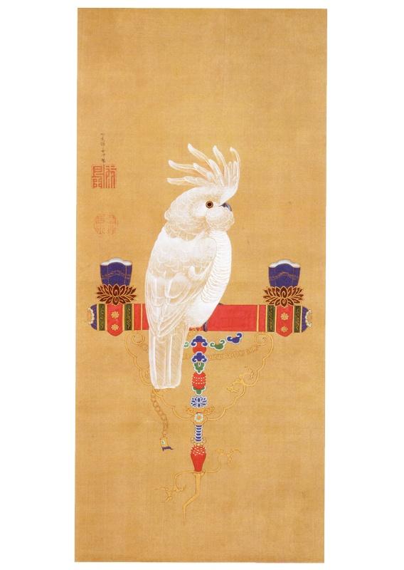 「鸚鵡図」 伊藤若冲